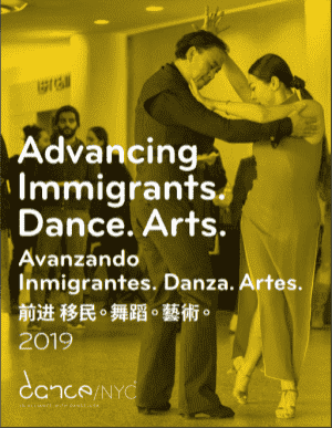 Advancing Immigrants. Dance. Arts.:Data on NYC Dance report cover