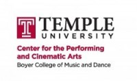 Temple University Center for the performing and cinematic arts logo