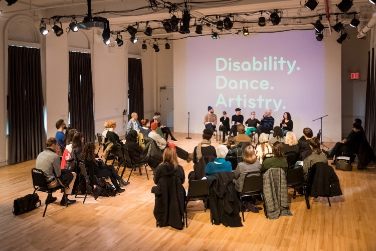 Disability. Dance. Artistry conversation with Jess Curtis and Claire Cunningham. (Photo Credit: Ian Douglas)