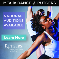 Audition for the Dance MFA at Rutgers