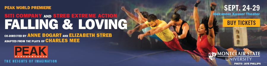 """Falling & Loving,"" a theater-dance collaboration between Anne Bogart's SITI Company and Elizabeth Streb's STREB Extreme Action, adapted from the plays of Charles Mee. peakperfs.tix.com"