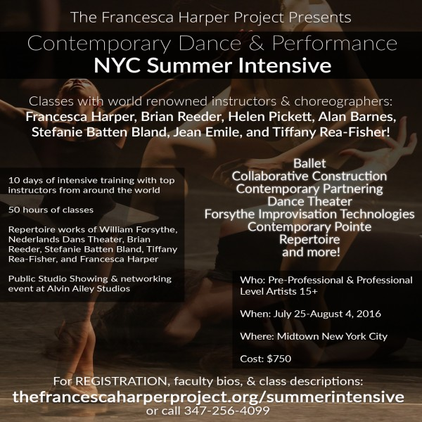 Contemporary dance performance nyc summer intensive for Contemporary dance new york