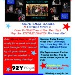 Learn Swing Dance @92Y! Starts Mon. 7/11/16 - 8/29/16!
