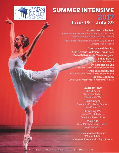 2017 Summer Intensive Auditions - Sarasota Cuban Ballet School