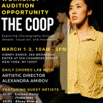The Coop Workshop + Audition Opportunity