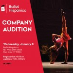 Ballet Hispánico Company Audition Flyer