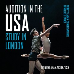 Trinity Laban Dance Auditions in NYC 2018