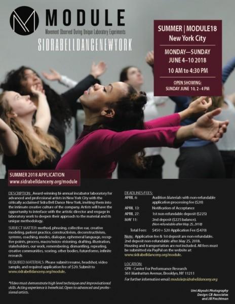 SUMMER   MODULE18 with Sidra Bell Dance New York   Dance/NYC
