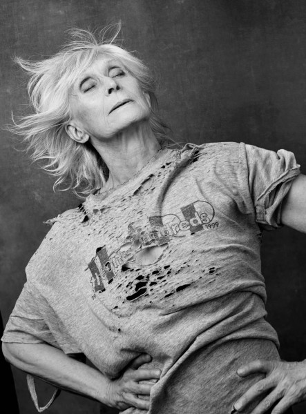 Twyla Tharp captured in a pose