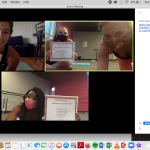 Instructors receiving their certificates in our last virtual training!
