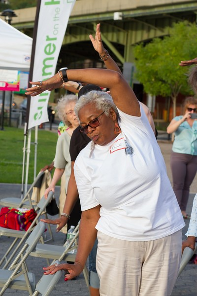 Class participants at Summer on the Hudson: Dance For Seniors