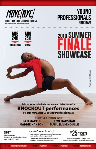 Join MOVE(NYC) for our fourth annual Young Professionals Program Summer Finale Showcase!