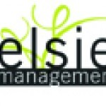 Elsie Management logo with curved lines in green