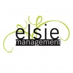 Elsie Management logo with the company's name spelled out and green curved lines in the background