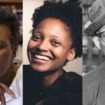 From left to right a photo of: Claudia Rankine, Tracy K Smith and Bill T. Jones