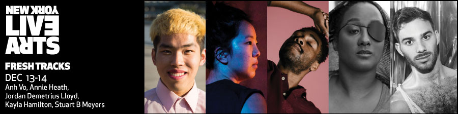Headshots of Fresh Tracks, from Left to Right Anh Vo, Annie Heath, Jordan Demetrius Lloyd, Kayla Hamilton, and Stuart B. Meyers