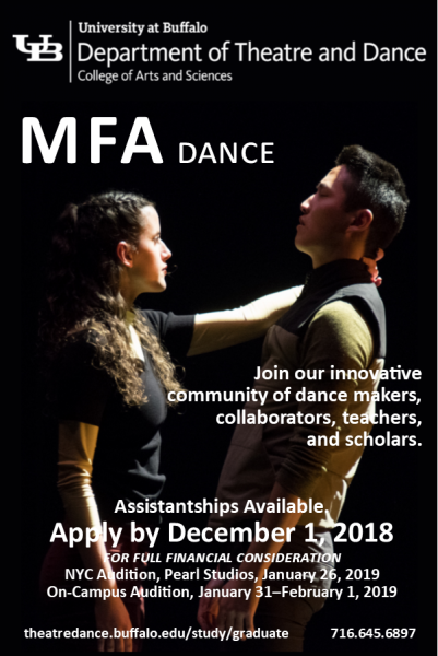 University at Buffalo, MFA Dance Audition | Dance/NYC