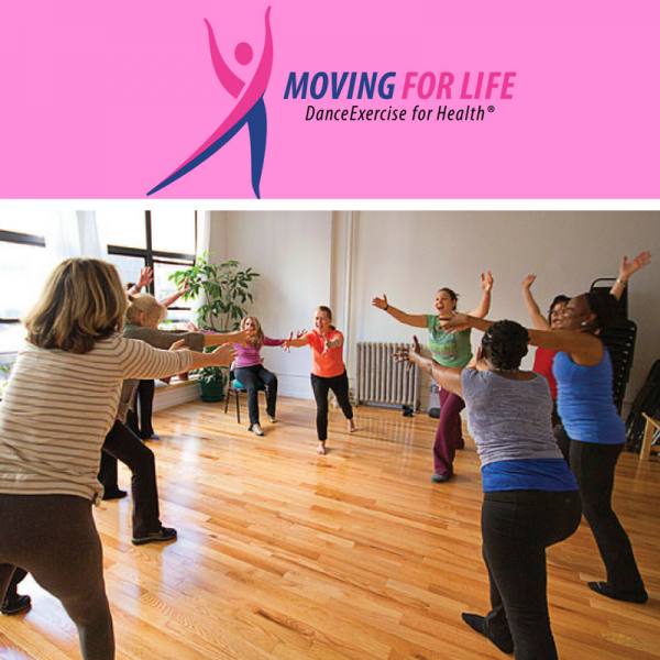 Moving for Life Logo with Image of Moving for Life class