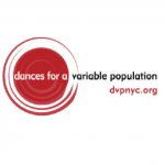 Logo and website of Dances for a Variable Population and website (dvpnyc.org).
