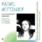 Peridance Online: Contemporary with Rachel Hettinger