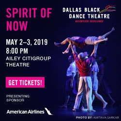 Dallas Black Dance Theatre Spirit of Now May 2 through 3 at Ailey Citigroup Theater