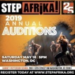 Step Afrika! Auditions, May 18 in Washington, DC!
