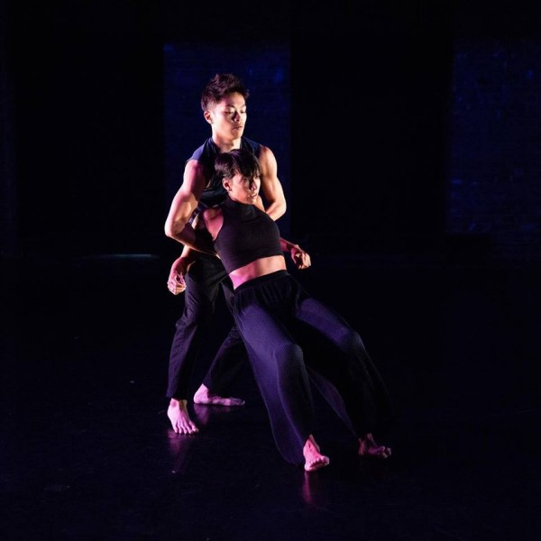 Dancers performing Assuage, one of the pieces being showcased in the Leaving and Coming Back performance