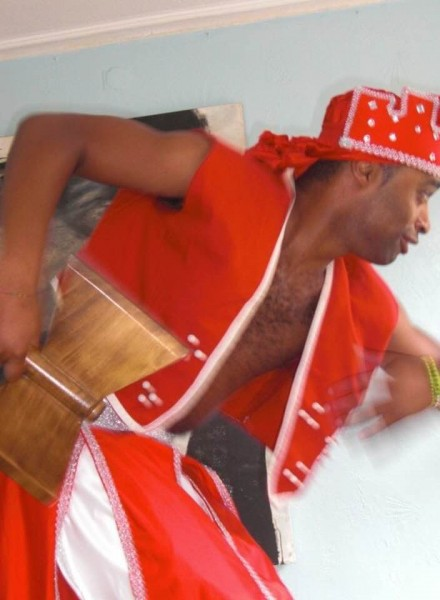 afrocuban man dressed as Shango