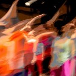 blurred image of dancers