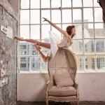 ballerina suspended in the air like an ornament