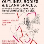 OUTLINES, BODIES & BLANK SPACES: IMPROVISATIONAL PRACTICES THROUGH MOVEMENT & VOICE