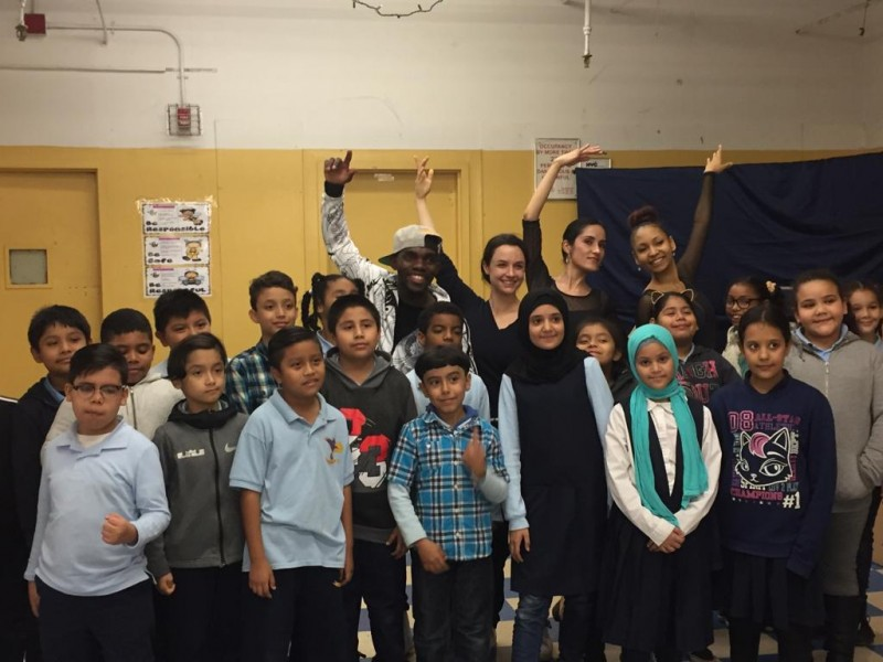 Accent Dance NYC Teaching Artists with students at P.S. 246