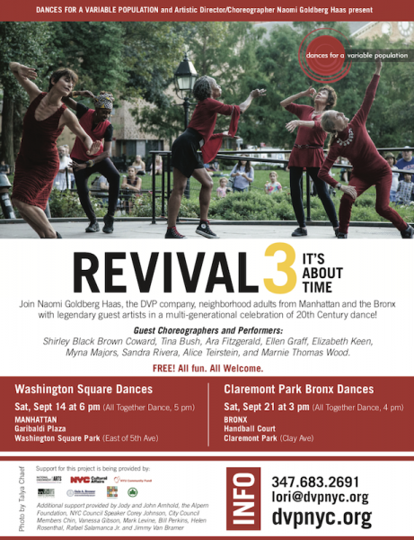 REVIVAL 3: IT'S ABOUT TIME, A COLLABORATIVE CELEBRATION OF   20TH CENTURY DANCEMAKERS #DVPRevival3
