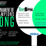 On Wednesday, December 11th, 2019, TopSpin New York will return to Metropolitan Pavilion for another amazing event highlighted