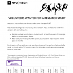 Dancers over the age of 18 needed for a research study on balance and injury.