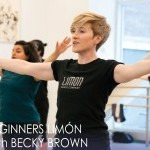 Becky teaching in Ailey studios