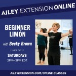 Becky Brown teaching in the Ailey studios