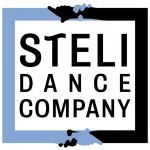 "Image of ""SteLi"" logo. The words: ""SteLi dance company"" framed by two borders connected by interlacing hands."