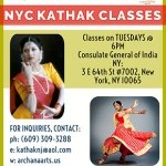 Archana Arts and the Consulate General of India Present: NYC Kathak Classes