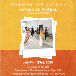 Kathak 101 Virtual classes
