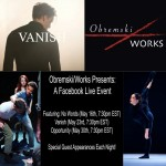 Obremski/Works invitation and information on the dance film screening and discussions