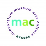 "Museum, Arts and Culture Access Consortium are written in a circle shape around the three letters ""mac"""