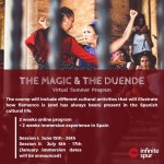 Spanish flamenco dancers and program information