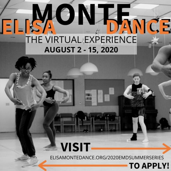 EMDSS: The Virtual Experience takes place from August 2-15. For more info: http://www.elisamontedance.org/2020emdsummerseries