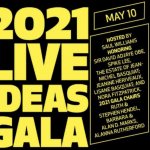 2021 live ideas gala in yellow large font