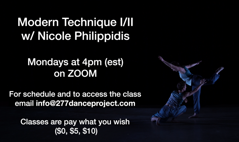 Modern Technique I/II with Nicole Philippidis on Zoom