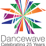 dancewave logo - colorful burst