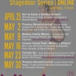NimbusPRESENTS: Stagedoor Series | ONLINE - Saturdays 7 - 8 pm