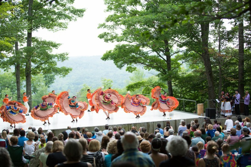 Calpulli Mexican Dance Company performs at the Jacob's Pillow Festival (Inside/Out Series) in 2016.