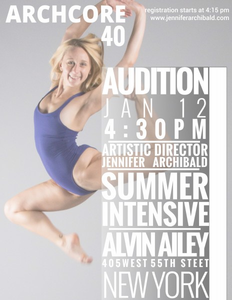 Audition for NYC's Archcore40 Dance Intensive